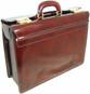 Lorenzo Magnifico II: Radica Range Collection – Triple Compartment Italian Calf Leather Briefcase in - Coffee
