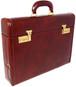 Ghirlandaio: Radica Range Collection –  Italian Calf Leather Small Travel Desk Attache Briefcase in- - Nutella
