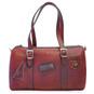 Berna : Bruce Range Collection – Italian Calf Leather Buckle Duffel bag in Cherry