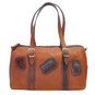 Berna : Bruce Range Collection – Italian Calf Leather Buckle Duffel bag in Cognac