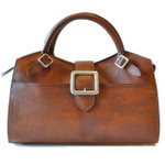 Fiesole - Bruce Range Collection – Grande Italian Calf Leather Top Handle Bag in - Brown