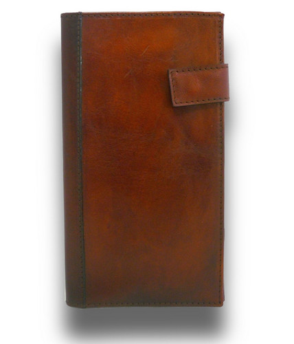 Fiorino d'oro: Bruce Range Collection – Italian Calf Leather Breast Pocket Wallet in Brown