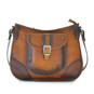 Sellina: Bruce Range Collection – Italian Calf Leather Crossbody Handbag in Cognac