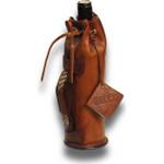 Portavino: Bruce Range Collection – Italian Calf Leather Bottle Holder in Brown