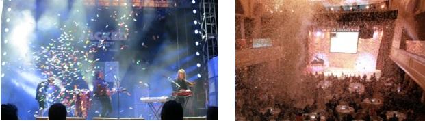 concert confetti images