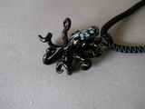 Black octopus necklace