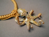 Carmel colored Octopus with Tan adjustable choker