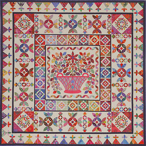 Flower Basket Medallion Quilt Pattern Kim McLean