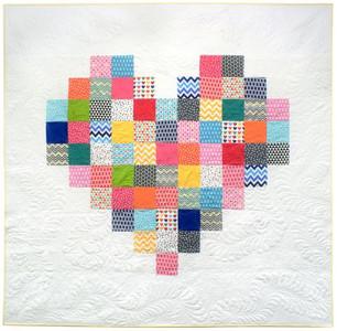 Pixelated Heart Free Pattern by Robert Kaufman Fabrics