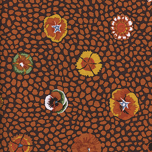 Guinea Flower Kaffe Fassett Colour: Brown
