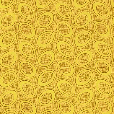 Kaffe Fassett Classic Aboriginal Dot - Gold GP71