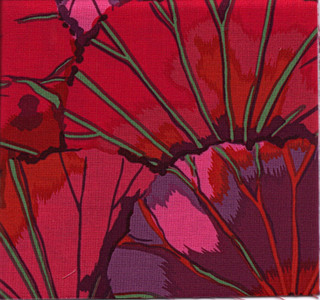 Lotus Leaf Kaffe Fassett Classic Colour: Wine