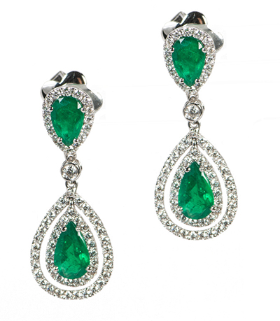 Emerald Earrings Drop Online