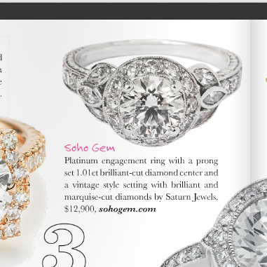 New York platinum engagement ring
