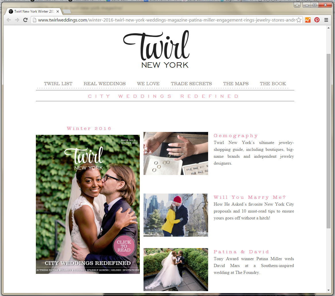 twirl magazine weddings bridal new york