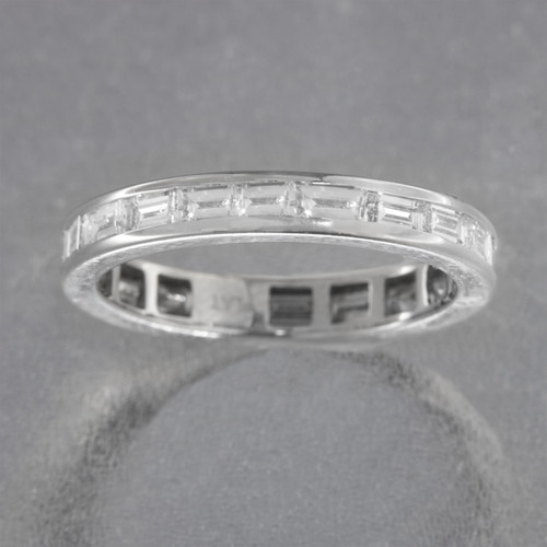baguette platinum bands diamonds full ring eternity princess and wedding band cut
