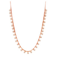 Diamond Tshirt Necklace in Rose Gold