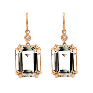 Quartz Emerald Cut Earrings