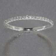 Platinum Micro Pave Wedding Band