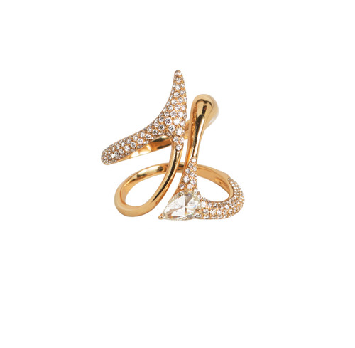 Modern yellow gold diamond ring etho maria jewelry for High design jewelry nyc