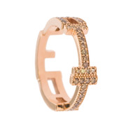 Maria Cina Personalized Ring | Champagne Diamond & Rose Gold