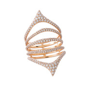 Etho Maria Pave Diamond Ring in Rose Gold