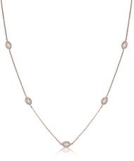 Lisa Nik Marquise Diamond Tennis Necklace