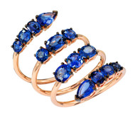 Etho Maria Blue Sapphire Wrap Ring in Rose Gold
