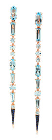 Etho Maria Blue Topaz Stiletto Earrings