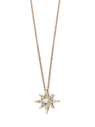 Anzie Aztec Mini Starburst Necklace- White Topaz