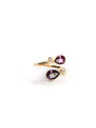 Anzie Classique Double Pear Spinel Ring