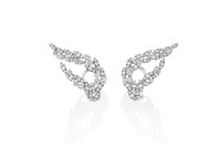 Casato Diamond Leaf Ear Climbers
