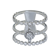Triple Band Diamond Ring