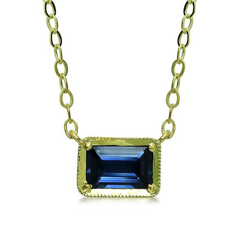 pendant blue solitaire gold diamond oval sapphire necklace handmade white carat saphire