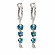 Teal Sapphire Earrings