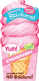 SCRATCH-AND-SNIFF STICKERS - ICE CREAM - STRAWBERRY