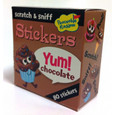 SCRATCH-AND-SNIFF STICKERS ON A ROLL - CHOCOLATE