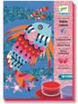 DJECO - COLOURED SAND & GLITTER ART - FISH RAINBOWS