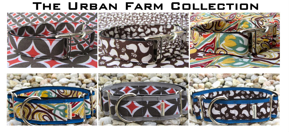 The Urban Farm dog collar collection
