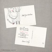 Malissa 1 - 4x6 Vintage Save the Date Postcard card