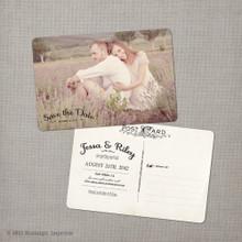 Jessa 2 - 4x6 Vintage Photo Save the Date Postcard