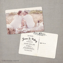 Jessa 1 - 4x6 Vintage Photo Save the Date Postcard card