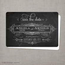 Angela - 4x6 Chalkboard Save the Date Card chalkboard