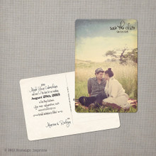 Marissa 5 - 4x6 Vintage Photo Save the Date Postcard card