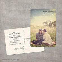 Marissa 2 - 4x6 Vintage Photo Save the Date Postcard card