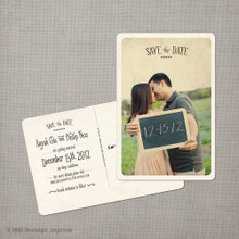 Anyah - 4x6 Vintage Photo Save the Date Postcard card