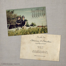 Abrianna - 4x6 Vintage Photo Save the Date Card calendar