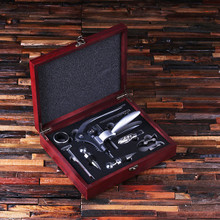 Groomsmen Bridesmaid Gift Personalized 7 Piece Wine Accessories Tool Kit