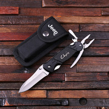 Groomsmen Bridesmaid Gift Personalized Jeep Utility Knife with Case