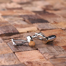 Groomsmen Bridesmaid Gift Personalized Engraved Cuff Links – Bullet
